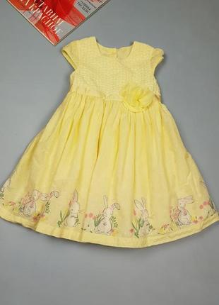 Натуральное детское платье на 1.2-2 года от george