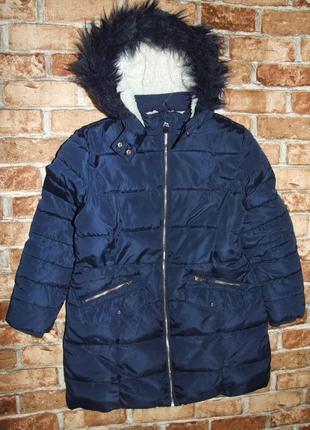 Теплое зимнее пальто  куртка девочке 11 - 12 лет  marks & spencer