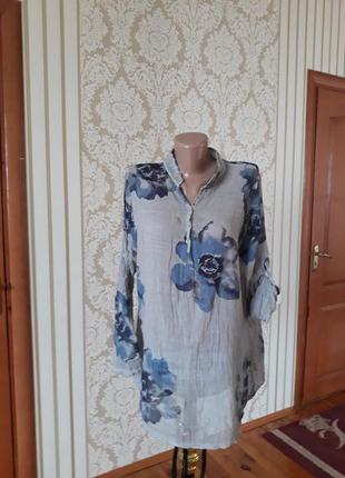 Итальянская блузка туника в принт