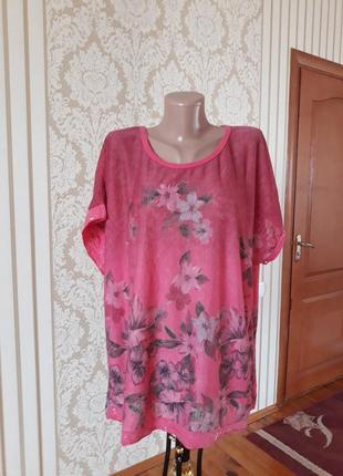 Итальянская блузка в цветочный принт