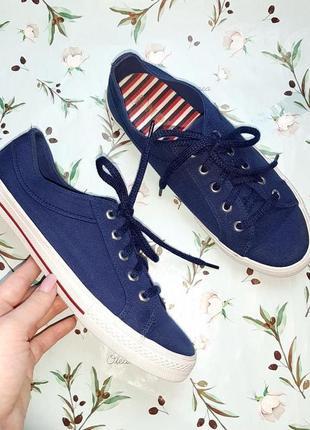 🎁1+1=3 фирменные синие женские кроссовки кеды marks&spencer, размер 38