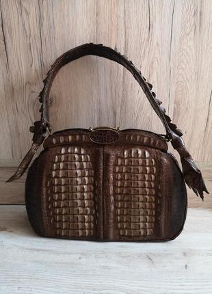 Винтажная сумка из кожи крокодила