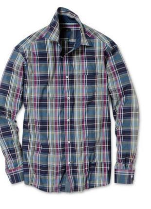 Мужская рубашка в клетку tcm tchibo германия