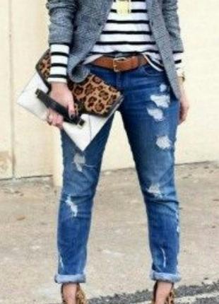 Джинсы hollister w29 l33 бойфренд плотный джинс