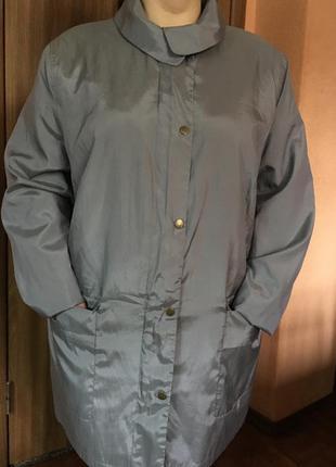 Легкий плащ, удлиненная куртка большого размера батал🌿