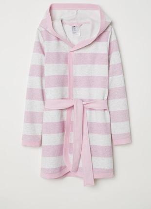 Новый халат h&м  в розовую полоску для девочки 14-15 лет