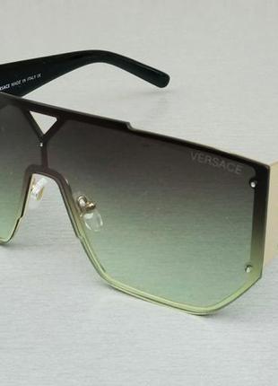 Versace очки маска женские солнцезащитные зеленые