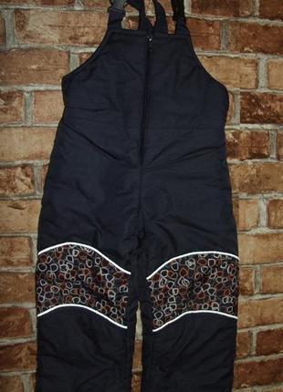 Полукомбинезон зимный мальчику 1 год зимние штаны термо