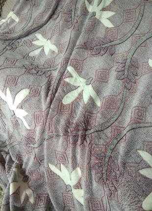 Шикарный плед  лилового цвета! новый! 210×210
