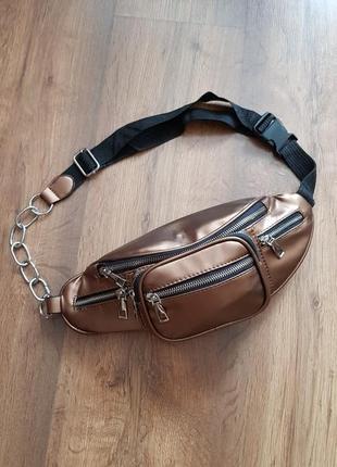 Женская сумка на цепочке бананка на плечо
