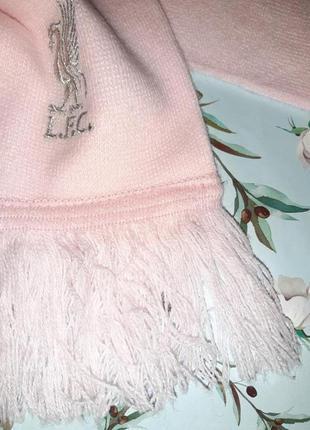 🎁1+1=3 мягкий теплый розовый шарф с фирменной вышивкой l.f.c. liverpool6 фото