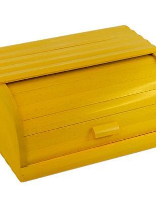 Жовта хлібниця із дерева