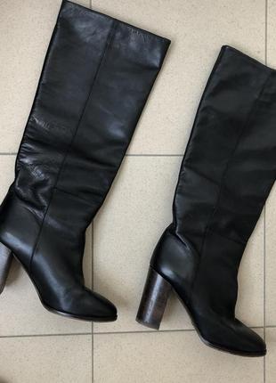 Massimo dutti высокие сапоги кожаные оригинал 38 р