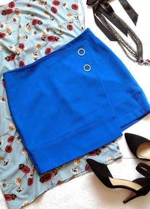Яркая асимметричная юбка h&m
