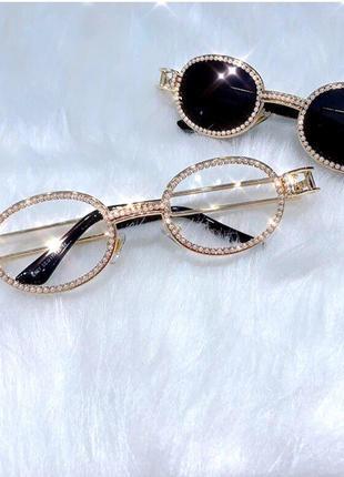 Жемчужные блестящие очки