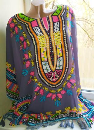 Пончо, платье в этно стиле