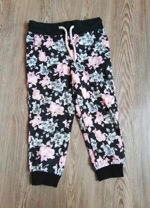 Спортивные штаны в цветы lupilu 98-104