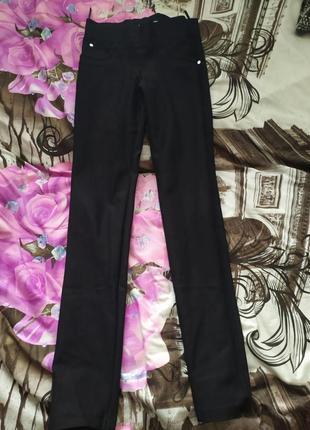 Чёрные лосины под джинсы под брюки с карманами сзади