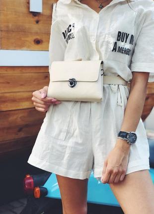 Класт сумка на пояс через плече 2в1 екошкіра