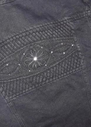 🎁1+1=3 черная джинсовая куртка олдскул lafeinier джинсовка демисезон, размер 44 - 466 фото