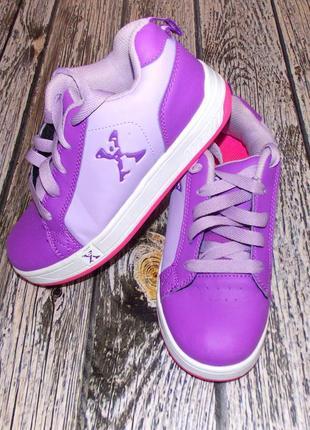 Фирменные кроссовки-ролики для девочки, размер-33-34