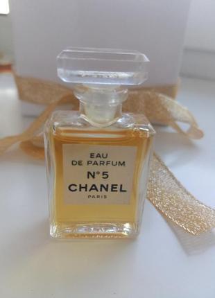 Винтажная миниатюра chanel no 5, парфюмированная вода, 4,5 мл