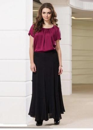 Юбка эксклюзив премиум бренд шёлковая длинная elena miro размер 48-50