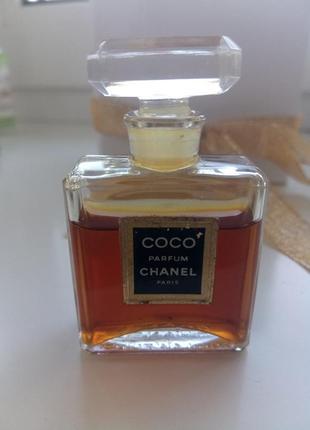 Coco chanel, parfum/экстракт/чистые духи, винтажная миниатюра, 7,5 мл, остаток