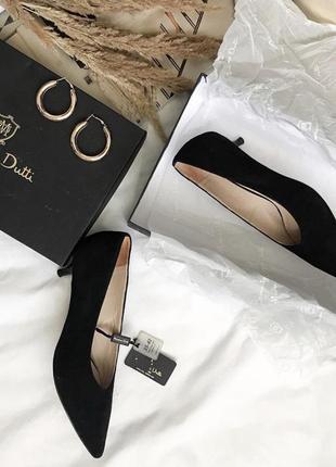 Нові замшеві туфлі massimo dutti