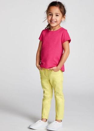 Крутые детские летние джинсы скинни lupilu размер 116+подарок!