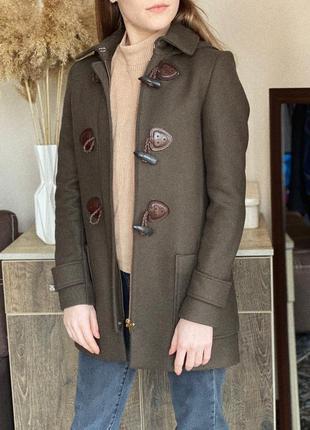 Шерстяное пальто, трендове пальто massimo dutti оригинал