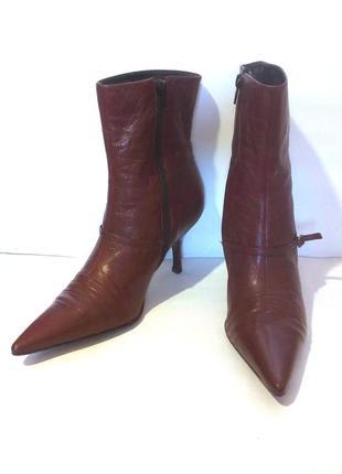 Стильные кожаные демисезонные ботинки / ботильоны jones, р.38 код f3844