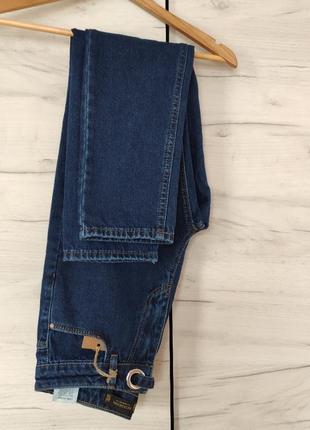 Синие джинсы момы mom
