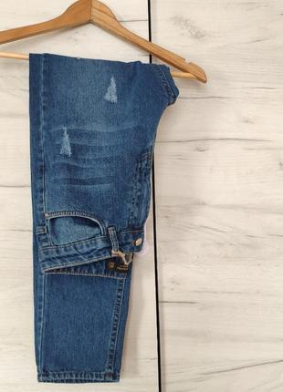 Базовые джинсы mom высокая посадка