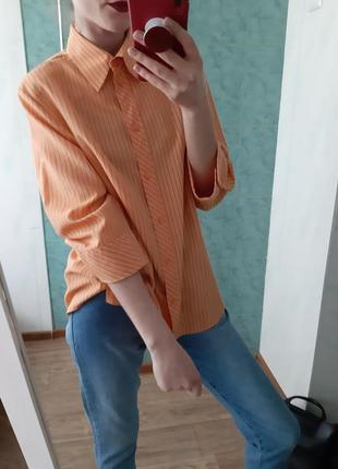Шикарная рубашка оверсайз massimo dutti
