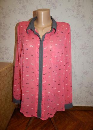 Next блузка шифоновая стильная модная р16