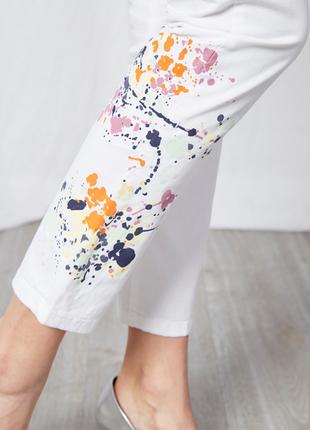 Новые белые джинсы скинни в краске  belair франция штаны брюки