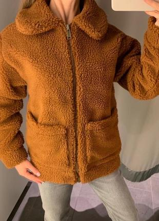 Короткая меховая куртка шерпа плюшевая шуба amisu