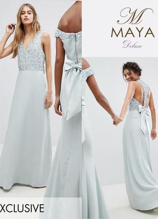 Эксклюзивное платье в пол maya uk14/eu42