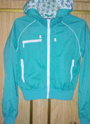 Яркая ветровка/  куртка  /спортивная кофта c капюшоном на молнии от george.