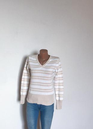 Качественный свитер джемпер в полоску от c&a