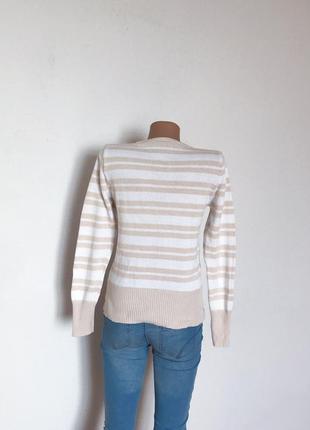 Качественный свитер джемпер в полоску от c&a3 фото