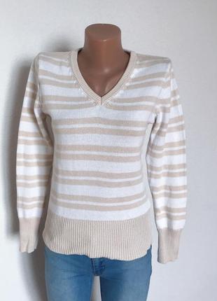 Качественный свитер джемпер в полоску от c&a2 фото
