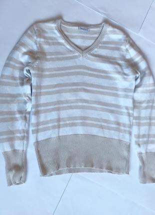 Качественный свитер джемпер в полоску от c&a5 фото