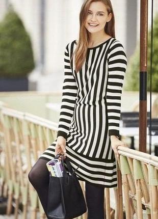 Стильное качественное платье в полоску esmara. размер m, евро 40-42