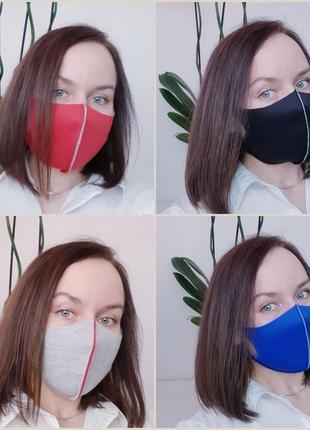 Защитная маска pitta питта качественная эластичная / вкладыш из хлопка в подарок