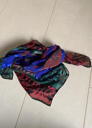 Платок шёлковый большой тонкий christian fischbacher