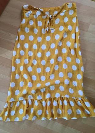 Натуральная юбка батал zara
