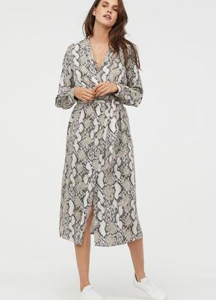 Платье халат h&m змеиный принт