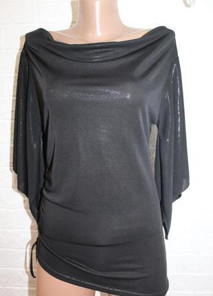 Нарядная блузка с напылением etam в идеальном состоянии l